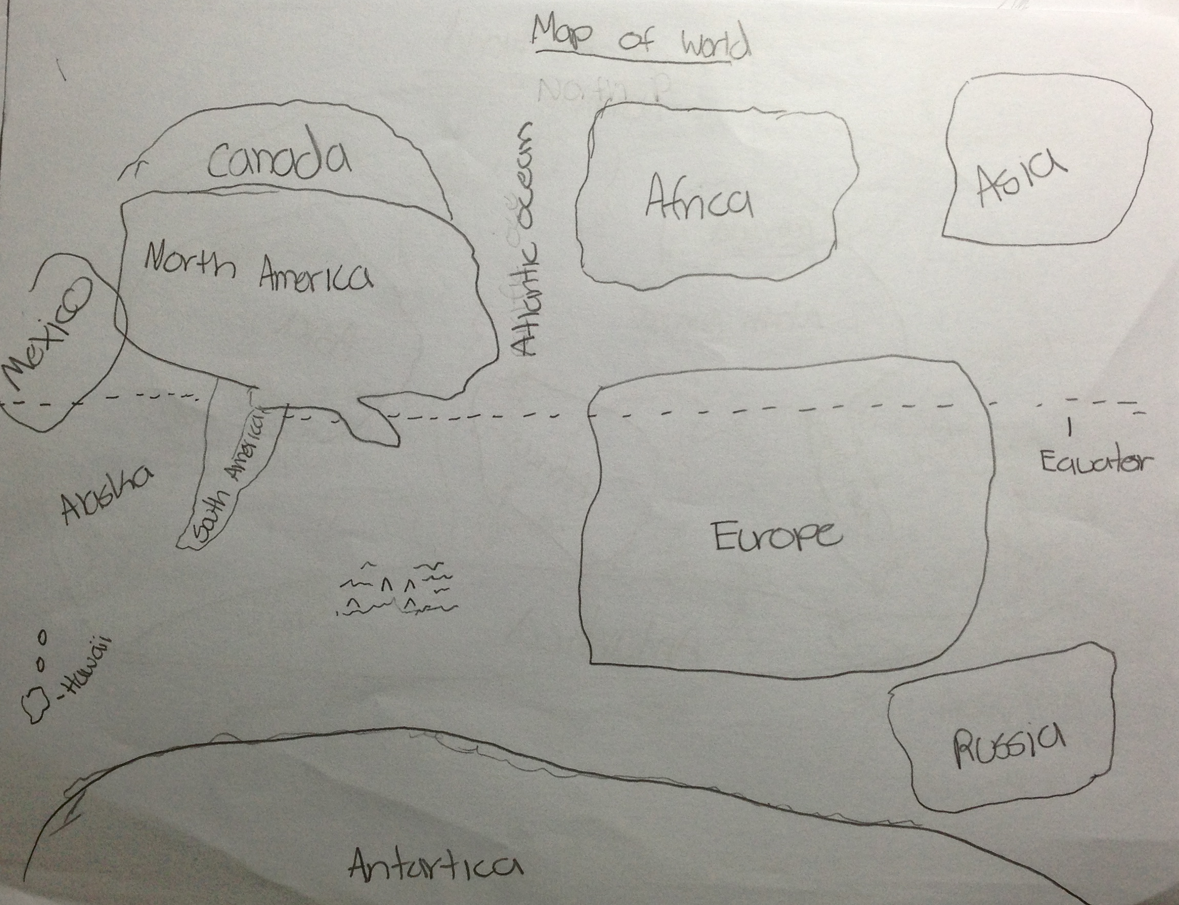 8th graders draw maps of the world | Nexus