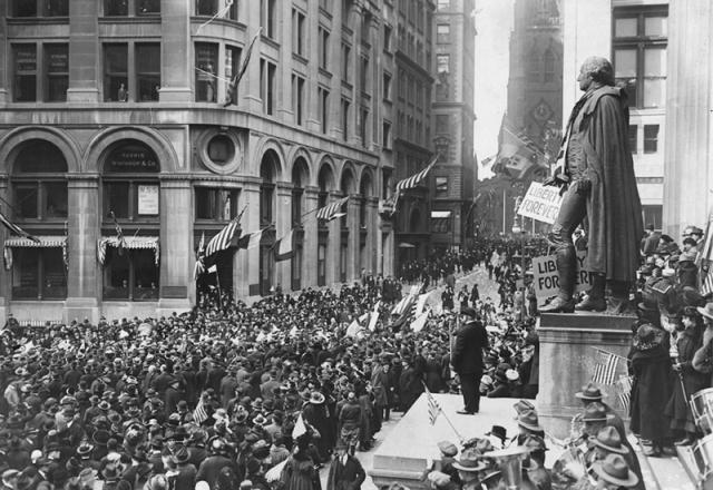 armistice day 1918 wall street